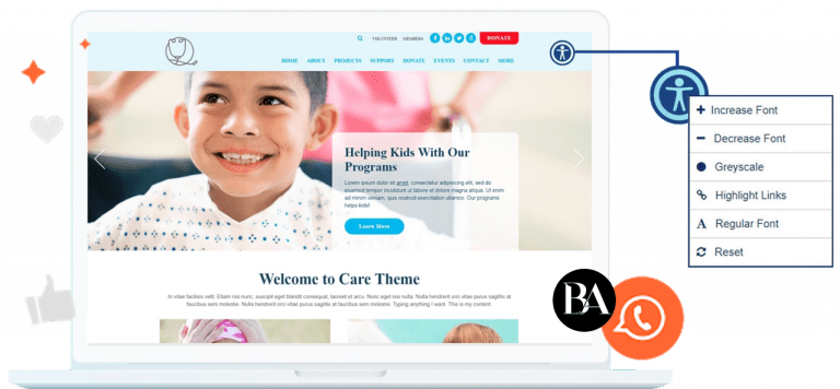 Web Accessibility and ADA Website Compliance by Blissbranding Agency - every website platform accepted